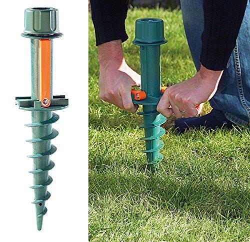 Royal Gardineer Schirmständer: Universal-Sonnenschirmständer mit Bodendübel (Bodenhülse)