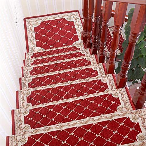 BECCYYLY Treppenfußmatten Kleberfreie Selbstklebende rutschfeste Matte Korridor Teppichmatte / 7St