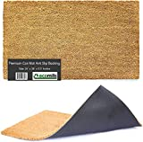 """Natural Coco Coir Door Mat, 24"""" x 36"""" x 0.5"""", Heavy Duty, Indoor Outdoor, Large Size, Non-Slip Backing, Mats for Entry Ways, Garage, Floors, Patio, Entrance Areas"""