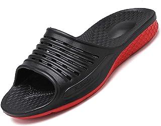 Sandales pour Hommes Fond épais Bord Large Tampon élastique Salle de Douche Pantoufles Chaussures de Plage pour Hommes