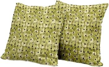 car seat Cushion Cover Apple,Abstract Autumn Garden Fresh Natural Food Organic Vegetarian Diet Artistic Pattern,Khaki Brown Floral Pillow Covers 24x24 INCH 2pcs
