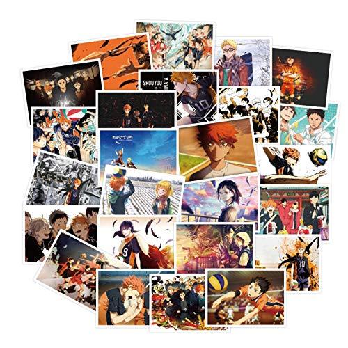 Later Japonés anime voleibol adolescente pegatinas equipaje maleta maleta portátil skateboard teléfono móvil pegatinas 30PCS