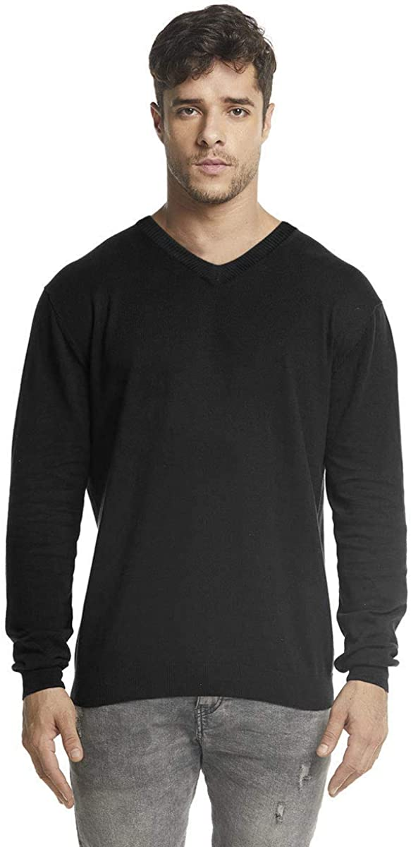 SUNJIN ACRO V-Neck Long Sleeve Lightweight Jersey Pullover Sustainable Essential Basic Eco-Friendly Knitwear for Men's