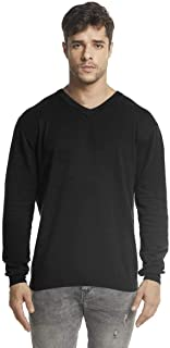 Sponsored Ad - SUNJIN ACRO Men's V-Neck Long Sleeve Lightweight Jersey Pullover Sustainable Essential Basic Eco-Friendly K...