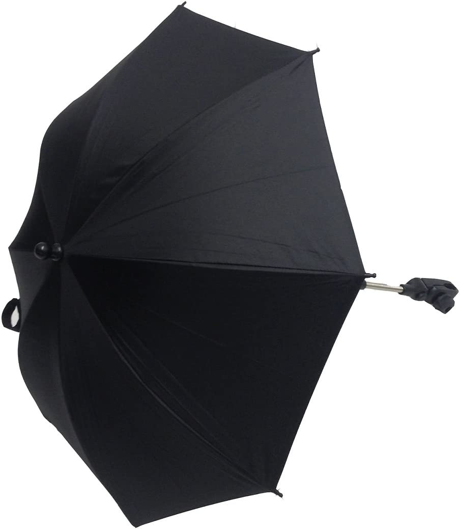 Bebé Sombrilla Compatible con Emmaljunga Scooter Negro