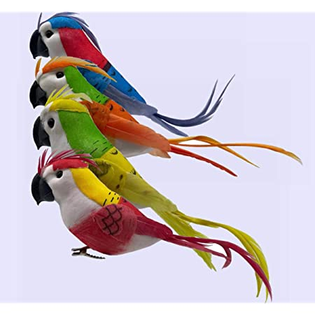 Artificial Foam Birds on Clip for Arts and Crafts Decoration Accessories L