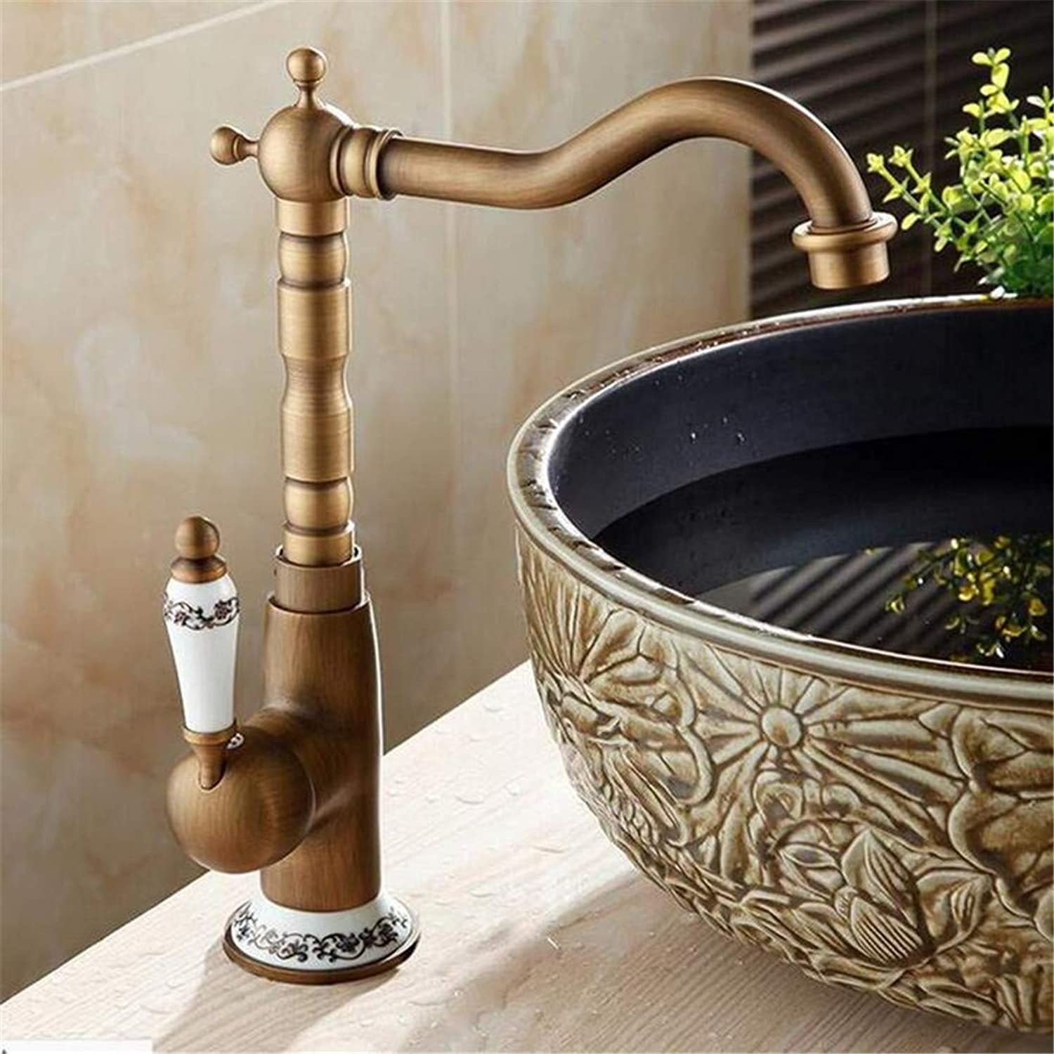 Faucet Modern Plated Kitchen Bathroom Faucet Basin Faucet Single Hole Bathroom Faucet Brass Hot and Cold Tap
