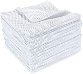Arkwright Microfiber Waffle Cloths Pack of 12 | Perfect for Cleaning Countertops, Windows, Auto Detailing, Dusting (16 x 1...