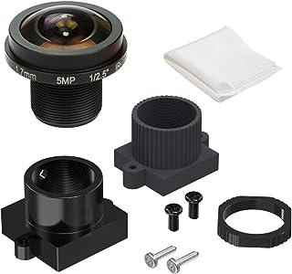 Arducam Ultra Fisheye M12 Objektiv, 1/2,5 Zoll, 1,7 mm Brennweite, Objektiv mit Objektivhalter für Arduino und Raspberry Pi Kamera, CCTV Sicherheitskamera