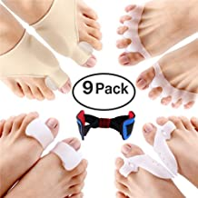 Orthopedic Bunion Corrector, Dokfin Mild Hallux Valgus Hammer Toe Bunion Corrector With Straightener Spacer And Bunion Joint Protector Toe Separators For Foot Pain & Bunion Relief, Hammer Toes