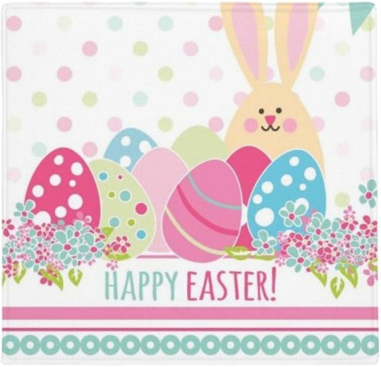 solo para ti DIYthinker Happy Easter - Alfombrilla Alfombrilla Alfombrilla Antideslizante para el Suelo de la Mascota, Cuadrada, 80 cm, Ideal como Regalo  marcas de moda