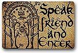 """Yolocal Speak Friend and Enter in Here - Felpudo de entrada con texto en inglés """"Habla Amigo y Enter in Her"""" (45 x 75 cm)"""