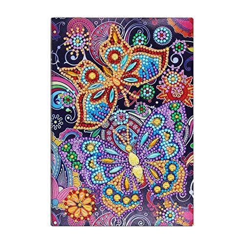 VIccoo notitieboek, 50 pagina's diamant schilderij notitieboek pauw DIY speciale borduurwerk kruis steek - NB44
