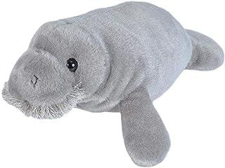 "Wild Republic Manatee Stuffed Animal Plush Toy, Gifts for Kids, Mini Cuddlekins, 10"""