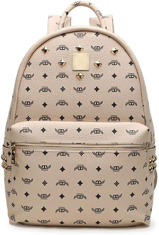 Amayay Daypacks Erwachsene Backpack Vintage Stylisch Fashion Damen Tasche Casual Multifunktions Einfacher Stil Leder Rucksack Handtasche Pu 27 5  13 7  32 5Cm (Farbe   Colour, Größe   One Größe)