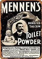 Mennen's Toilet メタルポスタレトロなポスタ安全標識壁パネル ティンサイン注意看板壁掛けプレート警告サイン絵図ショップ食料品ショッピングモールパーキングバークラブカフェレストラントイレ公共の場ギフト