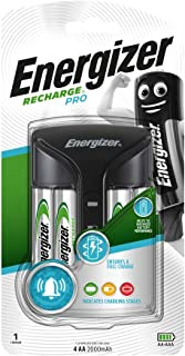 Energizer Pro Battery Charger, Recharge Pro Charges NiMH Rechargeable AA and AAA Batteries (4 AA Rechargeable Batteries In...