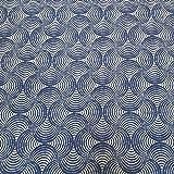 Stoff Meterware Baumwolle beschichtet blau weiß Wellen