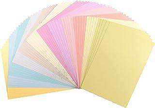 Vaessen Creative 2927-305 Florence Cardstock papper, färgmix pastell, 216 gram/m², DIN A4, 60 stycken, textur, för scrapbo...