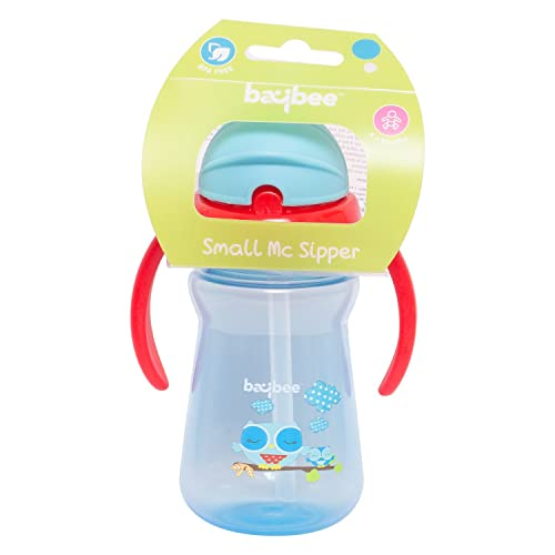 Baybee Premium 3 Stage Milk and Water Spill-Proof, 150Ml Leak-Proof, Break-Proof Insulated Toddler Straw Sippy Cup Set Assorted color (Pack of 1)