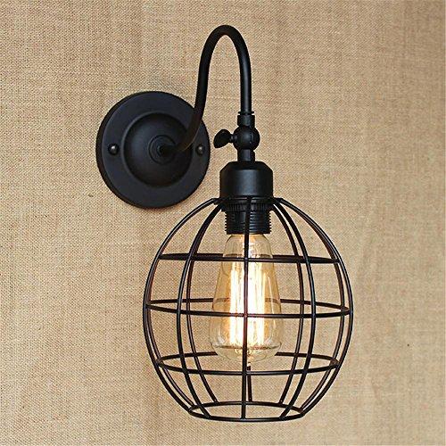 NIHE E27 éclairage européen minimaliste rétro créatif chambre européenne lampe murale en fer forgé antique lampe de chevet