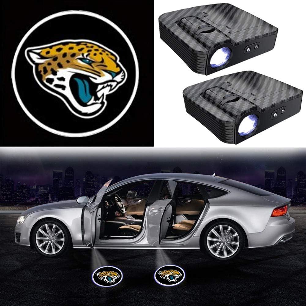 2PCS No Need Magnet Sensor CYAUTOR Wireless Car Door Light LED Projector Carbon Fiber Car Courtesy Welcome Logo Shadow Ghost Light Projector