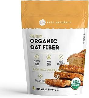 Sponsored Ad - Organic Oat Fiber Powder - Kate Natural. Gluten-Free, Non-GMO. Perfect for Keto Diet & High in Fiber. Resea...