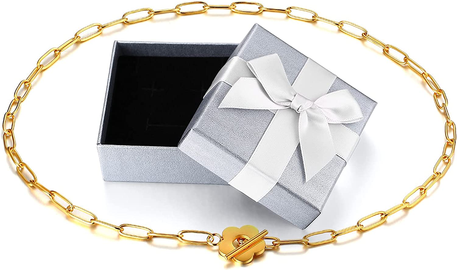 Gamtic Yellow Gold Paperclip Link Bracelet Girls for Women Flowe Ranking TOP8 SEAL limited product