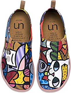 fd1586dd4db9b UIN Chat Charmant Chaussures Bateau de Toiles Casual Multicolore pour Femme