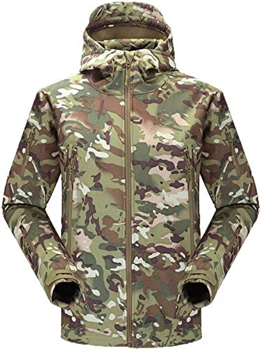YG Veste De Ski Soft Shell Hiver pour Hommes Sports De Plein Air Camouflage Polaire épaissir Al Robe Veste à Capuchon