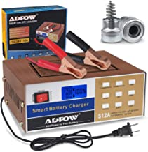 ADPOW Automotive Battery Charger 12V 24V 10A Automatic Smart Battery Maintainer Intelligent Pulse Repair for Boat Marine Truck Lawn Mower Deep Cycle Battery with Terminal Clean Brush