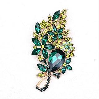 CBCJU Broche de Cristal de Personalidad Creativa Europea diseño Extra Grande para Que Las Mujeres Hagan 10.2 * 5.7cm