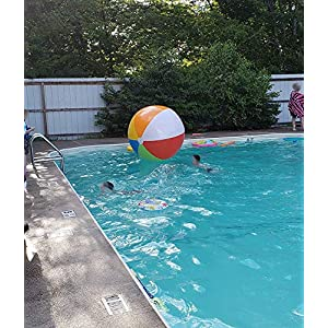 Top Race Giant 6 Foot Inflatable Beach Ball, Pool Ball, Beach Summer Parties, and Gifts | 1 Giant Jumbo Blow up Rainbow Color Beach Balls, 72 Inches Tall