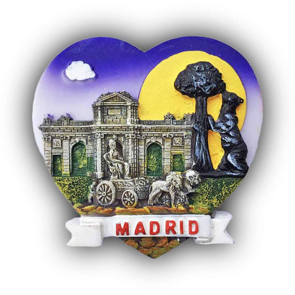 Madrid España 3D Imán de refrigerador en Forma de corazón Recuerdos turísticos Resina Pegatinas magnéticas Imán de Nevera Decoración de Hogar y Cocina de China: Amazon.es: Hogar