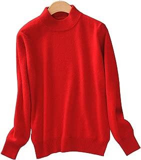 Women's Slim Mock Neck Wool Knit Jumper Sweater Tops Pullover