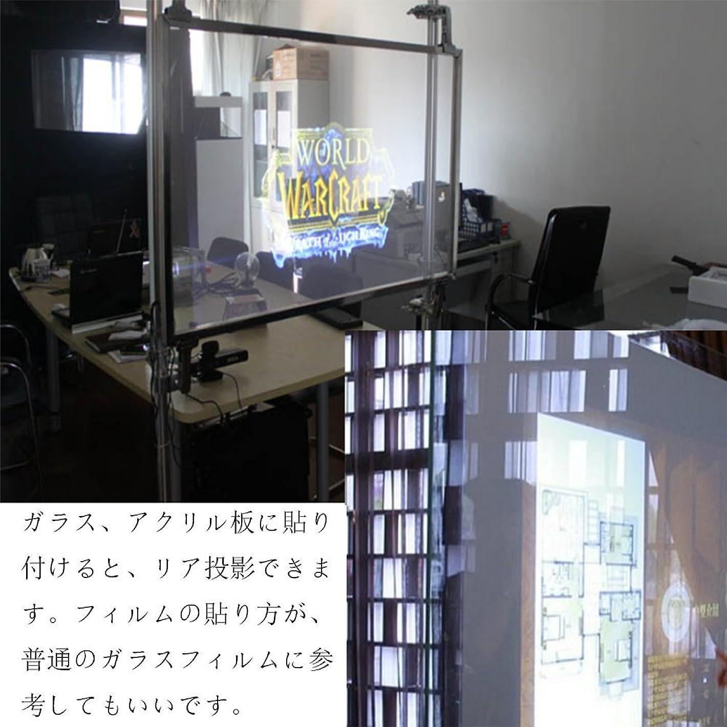ケープ野望ウェイドSUNDECK プロジェクター スクリーンフィルム リア投影型 粘着剤付き フィルムスクリーン 152cm100cm (透明)