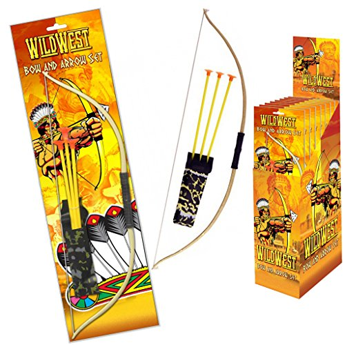 Kids Bow Arrow Play Set Toy Plastic Archery Game Cowboys Indians Outdoor...