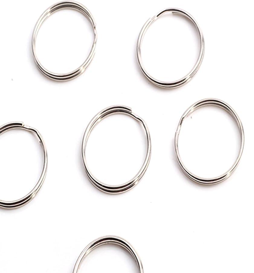 50x Thin Round Key Ring 24mm 1