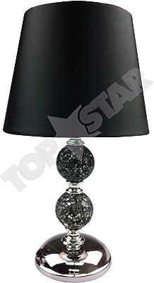 ZOE Crackle Mosaic Table Lamp - Black