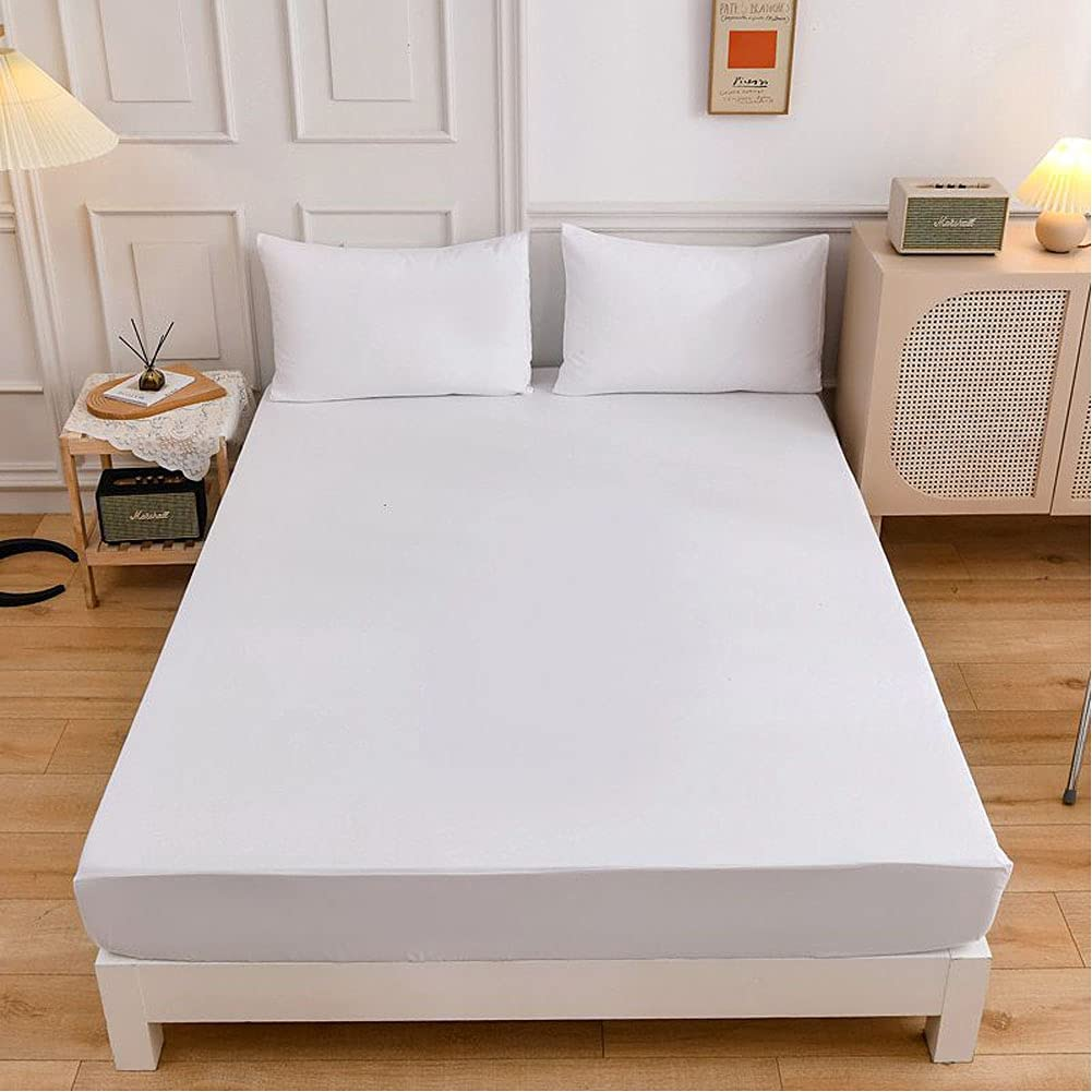 Solid Color Fitted Sheets Mattress Wish Home Pillowcase Te Cover Super beauty Excellence product restock quality top