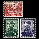 FGNDGEQN Colección de Sellos Democracia Alemania 1951 Moon amigable Alemana Mao Zedong Reforma de la Tierra 3 Todos los Sellos Extranjeros [No Hay Goma]