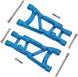 Aluminum Rear Lower Suspension A-Arms Replace 2555 for Traxxas Slash 1/10 2WD RC Car Hop Up Parts (Enhanced Version) (Blue)