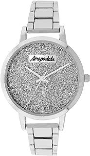 Aéropostale Women's Quartz Metal Silver Watch - Galaxy Dial - Casual Business Watch