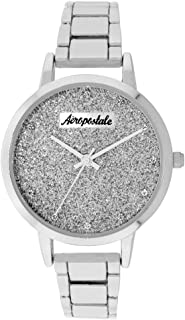 Aéropostale Women's Quartz Metal Silver Watch - Galaxy Dial - Casual Business Watch