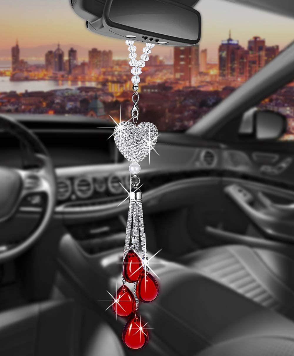 Tznyly Rearview Mirror Ornaments Access Bling Car Hanging Discount Las Vegas Mall mail order
