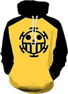 UU-Style One Piece Trafalgar Law Hoodies Pullover Cosplay Costume Long Sleeve Zip Jacket Sweatshirt Unisex