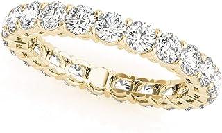 3.20ctw Round Lab Grown Diamond Eternity Band 14kt White Gold