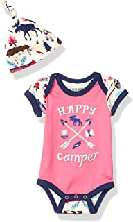 Little Blue House by Hatley Baby Girls` Bodysuit and Cap