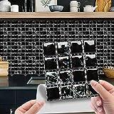 10 adesivi per piastrelle in cristallo 3D, adesivi per piastrelle da bagno, adesivi per piastrelle da cucina, piastrelle da parete in vinile, autoadesivi
