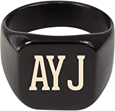 Molandra Products AYJ - Adult Initials Stainless Steel Ring